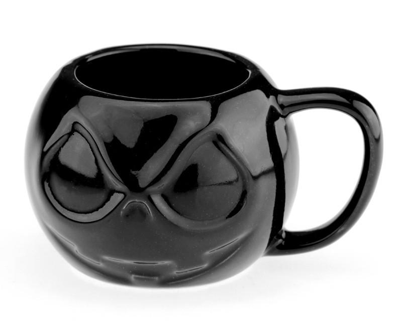Чашка ET Череп круглый черный (MZK13)