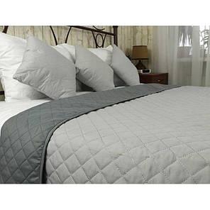 Покрывало на кровать, диван Руно Серое 212х240 двустороннее евро, фото 2