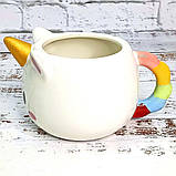 Чашка Единорог круглая (белая) №2, фото 2
