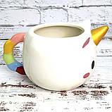 Чашка Единорог круглая (белая) №2, фото 3