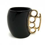 Чашка с кастетом выпуклая (черная), фото 2