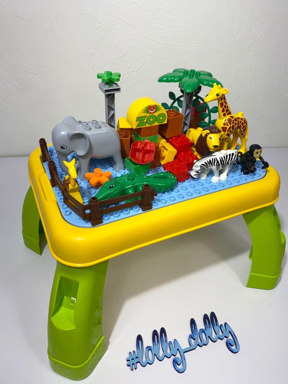 Конструктор-столик Зоопарк 3688A аналог Lego Duplo