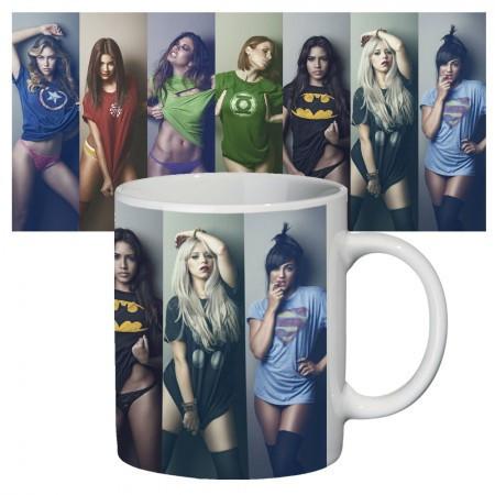 Чашка с принтом 63306 Девушки супергероев