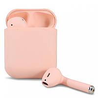 Беспроводные блютуз наушники i12 TWS с боксом для зарядки (Pink) | Bluetooth гарнитура