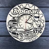 Концептуальные настенные часы из дерева «Top Gear»