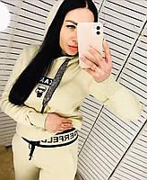 Женский брендовый спортивный костюм цвета пудры CL 20-268