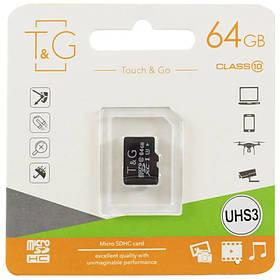 Карта памяти T&G microSDXC (UHS-3) 64 GB class 10 (без адаптера).