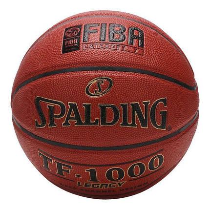 Мяч баскетбольный Spalding TF-1000 Legacy Indoor Коричневый Размер 6 (3001504010117), фото 2
