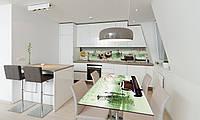 Наклейка 3Д виниловая на стол Zatarga «Чай и Сакура» 600х1200 мм для домов, квартир, столов, кофейн,, фото 1