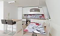 Наклейка 3Д виниловая на стол Zatarga «Красные Ягоды Лед» 650х1200 мм для домов, квартир, столов, , фото 1