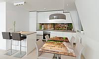 Наклейка 3Д виниловая на стол Zatarga «Прованс Горшочки с цветами» 600х1200 мм для домов, квартир, столов,, фото 1