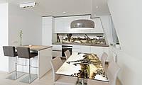 Наклейка 3Д виниловая на стол Zatarga «Этно Сафари» 650х1200 мм для домов, квартир, столов, кофейн,, фото 1