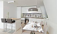 Наклейка 3Д виниловая на стол Zatarga «Париж Силуэты» 650х1200 мм для домов, квартир, столов, кофейн,, фото 1