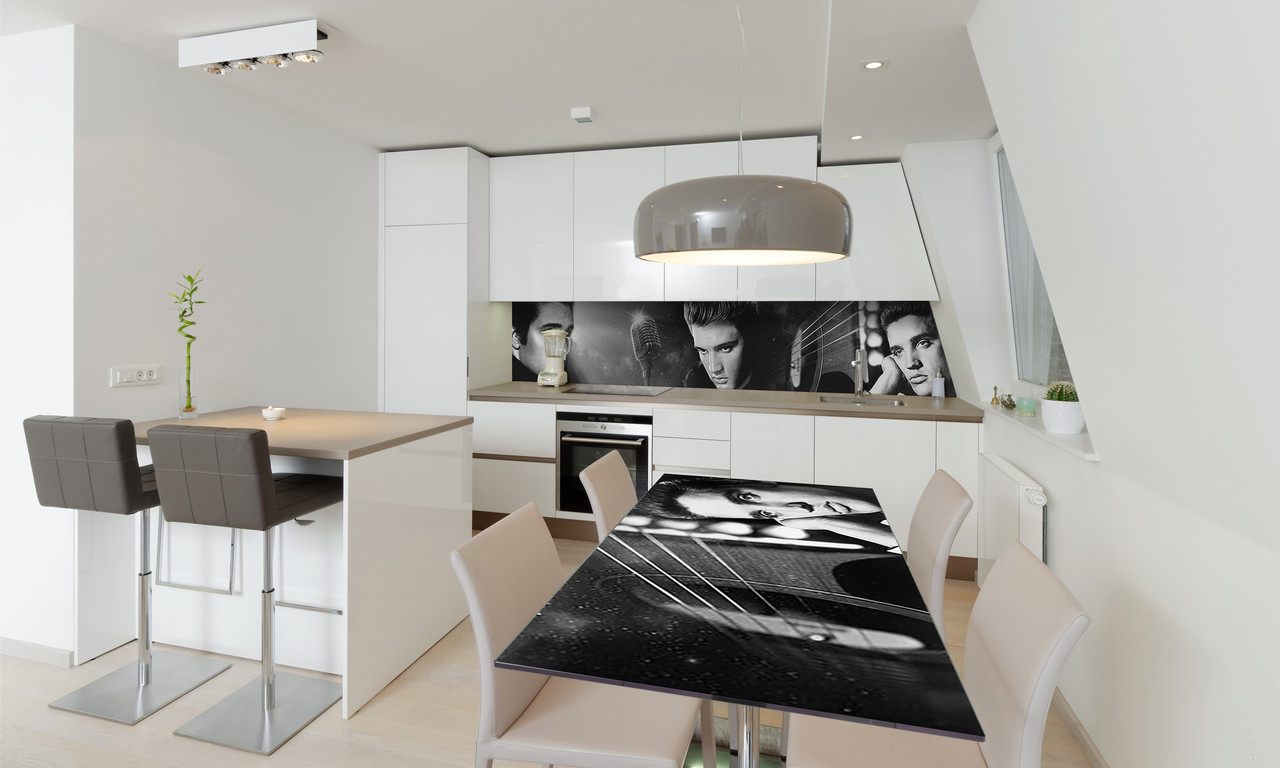 Наклейка 3Д виниловая на стол Zatarga «Элвис Пресли» 600х1200 мм для домов, квартир, столов, кофейн,