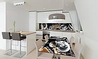 Наклейка 3Д виниловая на стол Zatarga «Черный Кофе» 650х1200 мм для домов, квартир, столов, кофейн,, фото 1