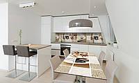 Наклейка 3Д виниловая на стол Zatarga «Охра 02» 600х1200 мм для домов, квартир, столов, кофейн, кафе, фото 1