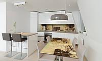 Наклейка 3Д виниловая на стол Zatarga «Маяк и Чемодан» 600х1200 мм для домов, квартир, столов, кофейн,, фото 1