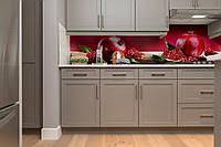 Скинали на кухню Zatarga «Спелый гранат 02» 600х3000 мм виниловая 3Д наклейка кухонный фартук самоклеящаяся, фото 1