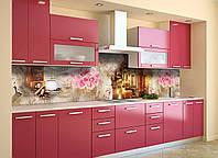 Скинали на кухню Zatarga «Вечерняя прогулка» 600х3000 мм виниловая 3Д наклейка кухонный фартук самоклеящаяся, фото 1