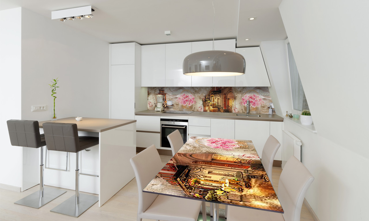 Наклейка 3Д виниловая на стол Zatarga «Вечерняя прогулка» 600х1200 мм для домов, квартир, столов,