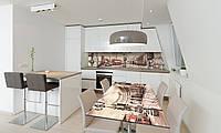 Наклейка 3Д виниловая на стол Zatarga «Лондонская площадь» 650х1200 мм для домов, квартир, столов, , фото 1