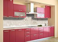 Скинали на кухню Zatarga «Бежевый Узор» 600х2500 мм виниловая 3Д наклейка кухонный фартук самоклеящаяся, фото 1