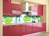 Скинали на кухню Zatarga «Лайм 02» 600х2500 мм виниловая 3Д наклейка кухонный фартук самоклеящаяся