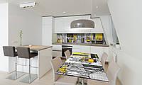 Наклейка 3Д виниловая на стол Zatarga «Желтый трамвай Лиссабон» 650х1200 мм для домов, квартир, столов, , фото 1