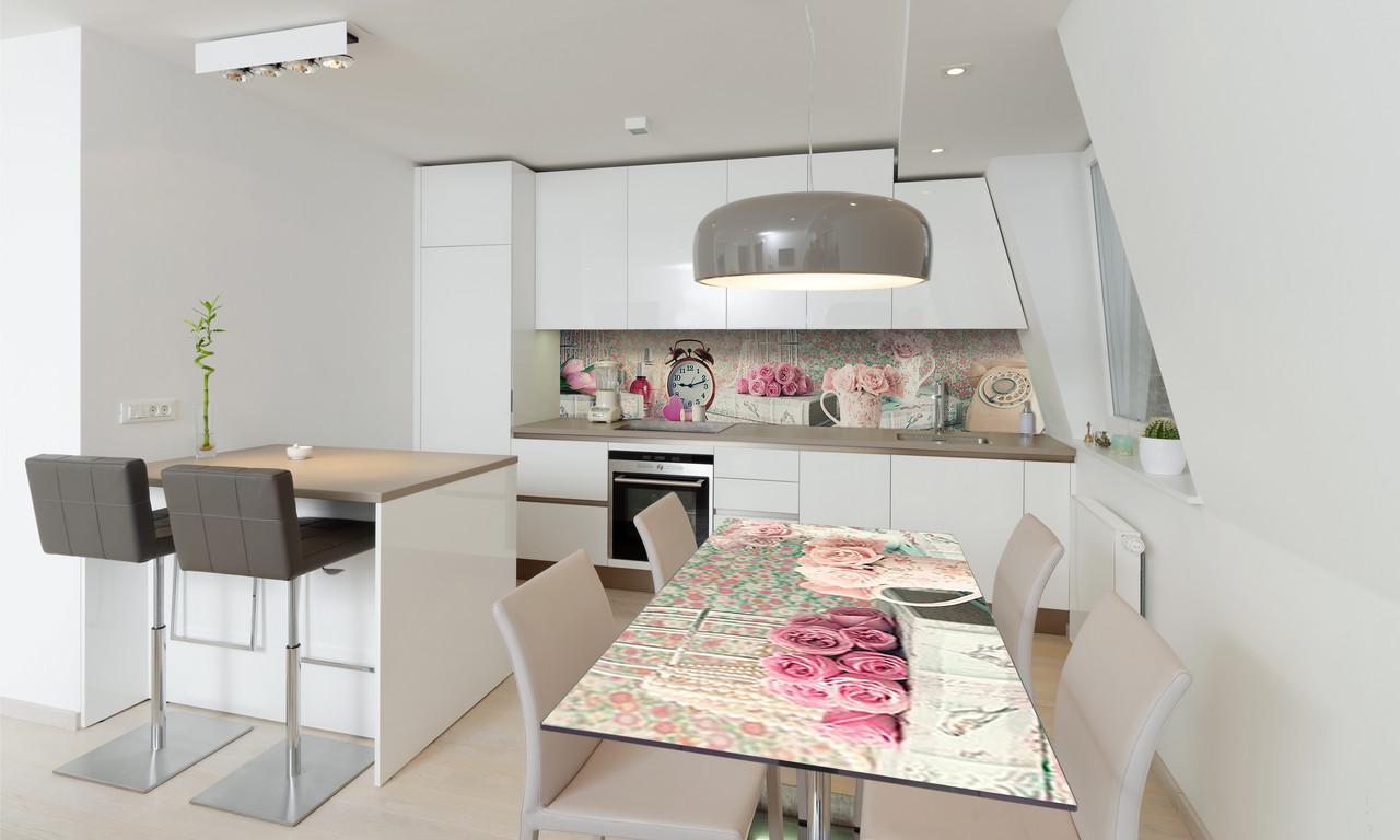 Наклейка 3Д виниловая на стол Zatarga «Прекрасное утро 02» 600х1200 мм для домов, квартир, столов,
