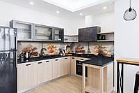 Скинали на кухню Zatarga «Сладости в Париже 02» 600х3000 мм виниловая 3Д наклейка кухонный фартук, фото 1