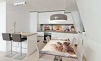 Наклейка 3Д виниловая на стол Zatarga «Сладости в Париже 02» 650х1200 мм для домов, квартир, столов, , фото 1