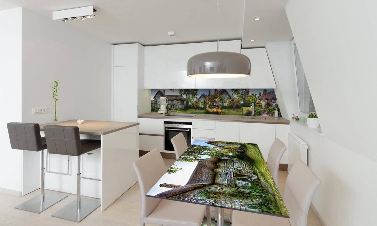 Наклейка 3Д виниловая на стол Zatarga «Сказочный домик 02» 650х1200 мм для домов, квартир, столов,