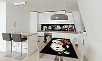 Наклейка 3Д виниловая на стол Zatarga «Кофе и Орхидеи» 650х1200 мм для домов, квартир, столов, кофейн,, фото 1