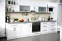 Скинали на кухню Zatarga «Винтажные розы» 650х2500 мм виниловая 3Д наклейка кухонный фартук самоклеящаяся, фото 1