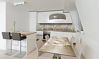 Наклейка 3Д виниловая на стол Zatarga «Ренесанс лепнина ретро» 650х1200 мм для домов, квартир, столов, , фото 1