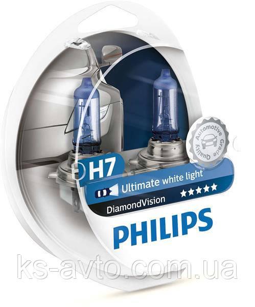 АВТОЛАМПА PHILIPS H7 12972DVS2 DIAMONDVISION   (2ШТ. DUOBOX)