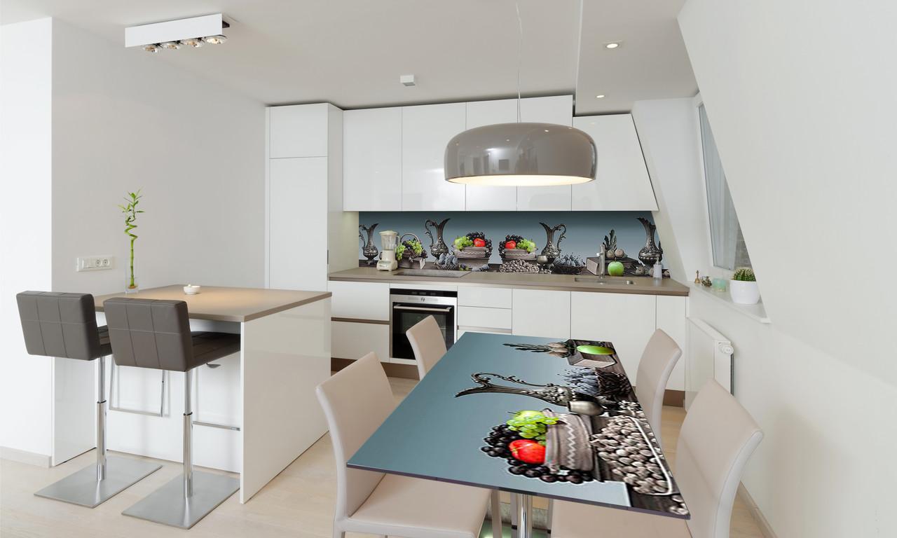 Наклейка 3Д виниловая на стол Zatarga «Турецкие Кувшины» 600х1200 мм для домов, квартир, столов,