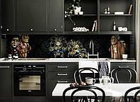 Скинали на кухню Zatarga «Венецианские маски Карнавал» 650х2500 мм виниловая 3Д наклейка кухонный фартук