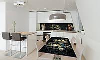 Наклейка 3Д виниловая на стол Zatarga «Венецианские маски Карнавал» 600х1200 мм для домов, квартир, столов,