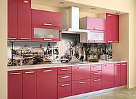 Скинали на кухню Zatarga «Прованс Мощеные улицы» 600х2500 мм виниловая 3Д наклейка кухонный фартук, фото 1