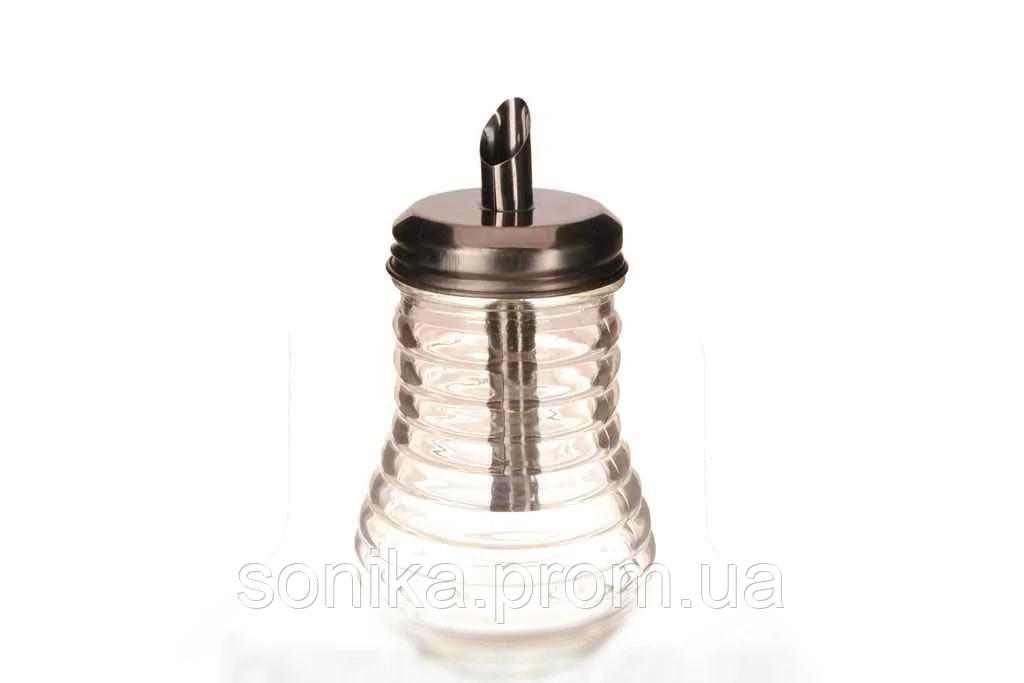 Цукорниця скляна з дозатором Vitol VT6-17147