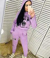 Женский брендовый спортивный костюм сиреневого цвета CL 20-301