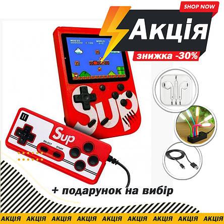 "Приставка с джойстиком SUP Game Box 3"" 400 игр Супер Марио, фото 2"