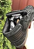 Мужские зимние кросовки Nike Jordan черные замшевые на меху, фото 5