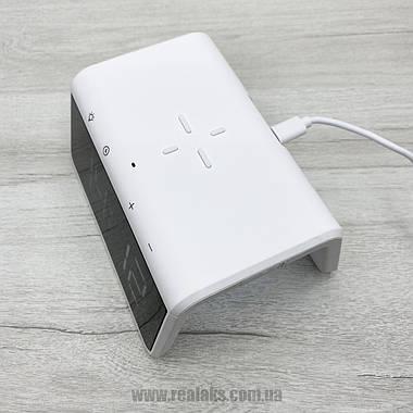Беспроводная зарядка, часы, будильник и ночник Qi SY-W0258 (white), фото 3