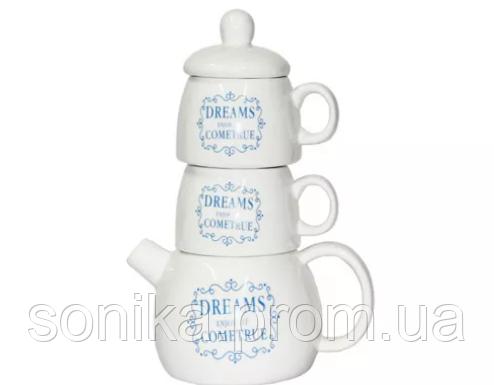"""Набір чайний з заварником """"Чай для двох"""" 4 предмети  34367-14"""