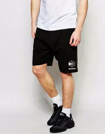 Мужские спортивные шорты Reebok, Рибок, черные (в стиле), фото 2