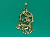 """Подвеска знак Зодиака """"Стрелец"""" с устойчивым покрытием золота."""
