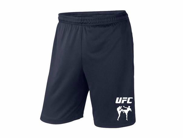 Мужские спортивные шорты UFC, юфс, темно-синие (в стиле), фото 2