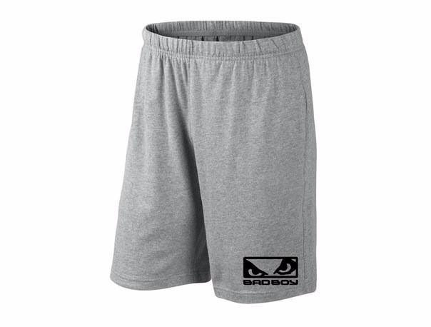Мужские спортивные шорты bad boy, бед бой, серые (в стиле)
